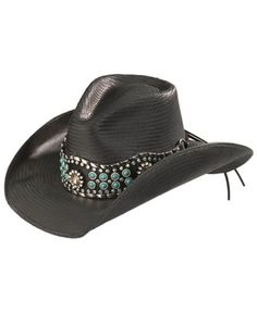 c089c7a41ce Bullhide Own the Night Straw Cowgirl Hat Black Cowgirl