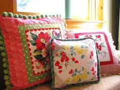 Image result for pillows made from vintage linens