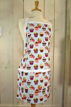 Cupcake  Adult Apron  Reversible apron full by luckyduckydesigns, $44.00