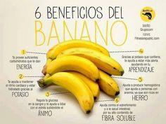 Beneficios de consumir plátano, conoce más propiedades de este fruto...http://bit.ly/M6Tu7v