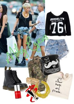 """Miley Cyrus style."" by mariancrespo ❤ liked on Polyvore"