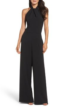 online shopping for Julia Jordan Halter Wide Leg Jumpsuit from top store. See new offer for Julia Jordan Halter Wide Leg Jumpsuit Mode Inspiration, Look Chic, Black Jumpsuit, Holiday Dresses, Halter Neck, Jumpsuits For Women, Womens Jumpsuits Formal, Long Jumpsuits, Dress Up