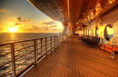 Disney Fantasy Sunset at Sea by NYRBlue94, via Flickr