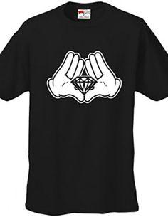 Bewild-Brand-Diamond-Cartoon-Hands-Mens-T-Shirt-0