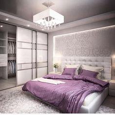 Este posibil ca imaginea să conţină: dormitor şi interior Wardrobe Design Bedroom, Luxury Bedroom Design, Master Bedroom Design, Home Bedroom, Modern Bedroom, Home Interior Design, Bedroom Decor, Dream Rooms, Luxurious Bedrooms