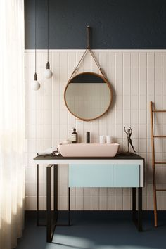 Contemporary bathrooms 851039660818502454 - FIND OUT: 15 Attracting Pastel Bathroom Interior Design Ideas Pastel Bathroom, Bathroom Colors, Modern Bathroom, Small Bathroom, Bathroom Ideas, Bathroom Organization, Bathroom Mirror Wall, Entryway Mirror, Minimal Bathroom