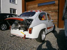 Umbau eines Fiat 600 zum Abarth 1000 TCR BMW 2002 ti