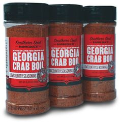 SPICE IT ZESTY This coastal-crafted blend of perfect savory salty-hot Georgia Crab Boil will be sure to please everyone's palate. Perfect for Low Country boils, seafood stews and soups, or any fish dish. Available at Southern Soul Barbeque, 2020 Demere Rd., 912.638.SOUL, southernsoulbbq.com