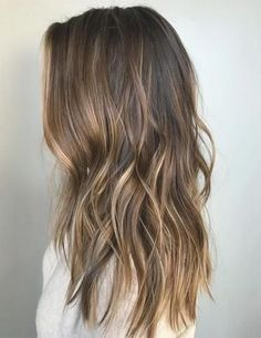 Balayage Hairstyles 2018 with Hair Color Spring Ideas - Anastasia Slyvinska. Balayage Hairstyles 2018 with Hair Color Spring Ideas - Anastasia Slyvinska. Lovely Hairstyle for Shoulder Length in 2020 Soft Balayage, Hair Color Balayage, Subtle Balayage Brunette, Subtle Balyage, Partial Balayage Brunettes, Sunkissed Hair Brunette, Light Brunette Hair, Summer Brunette, Balayage Hairstyle