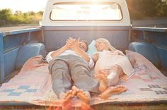 what is it about a quilt and an old pickup truck?