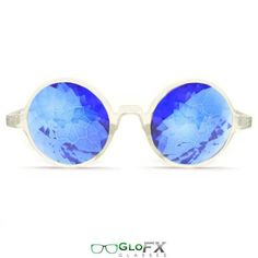 - Real Glass Crystals - Unique Translucent Frame - Sapphire Lenses - Intense Kaleidoscopic Effect - Free Microfiber Cleaning Case Included - Handcrafted in the USA Start stimulating your vision with o