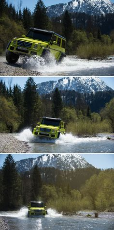 The Mercedes-Benz G-Class (W has long been considered a design icon. G Wagon, Mercedes Benz G500, Mercedes Benz G Class, High End Cars, Train Car, Gmc Trucks, Exotic Cars, Beautiful Landscapes, Luxury Cars