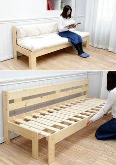 40 easy diy home decor furniture hacks that are so creative 7 Diy Furniture Couch, Diy Outdoor Furniture, Diy Couch, Diy Pallet Furniture, Space Saving Furniture, Home Decor Furniture, Furniture Projects, Furniture Plans, Rustic Furniture