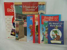 ABeka Social Studies K5, Character Development Visuals, Missionary Stories Cards #TextbookBundleKit