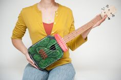 Jar of Pickles Ukulele by celentanowoodworks on Etsy, $650.00