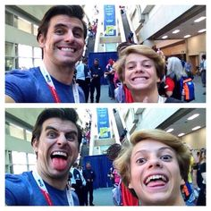 new phot of Cooper Barnes with Jace Norman /13/8/2015