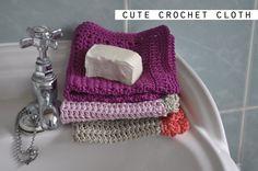 Make a luxurious crochet face cloth - FREE pattern www.honeyrosecrafts.com