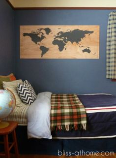 cool / cheap way to get large scale art on the wall. Must try for guest room