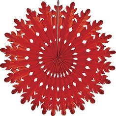 Red 14 Inch Rice Paper Decoration