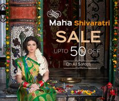 It's festivities time once again at #Shatika for we announce the beginning of the #greatMahashivaratriSale with a plethora of deals, offers and #discounts! So this Mahashivratri, take a plunge in tradition and emerge as a winner!