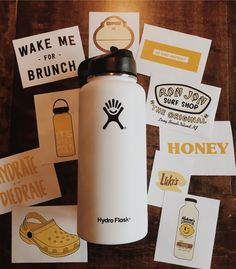 MadEDesigns is an independent artist creating amazing designs for great products such as t-shirts, stickers, posters, and phone cases. Vsco, Laptop Stickers, Cute Stickers, Cute Water Bottles, Water Bottle Art, Hydro Flask Water Bottle, Food Storage Boxes, Tumblr Stickers, Aesthetic Stickers