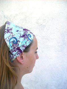 Čelenka nebo šátek do vlasů Čelenka ušitá z bavlněné látky. Obvod 52-75 cm