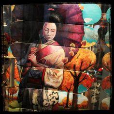 skate geisha portrait in Bond Street Gallery - Buenos Aires - Argentina
