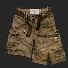 Men's Abercrombie and Fitch Vintage Cargo Shorts