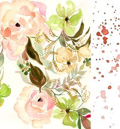 A Peek into the Studio – Watercolor Floral Wedding Stationery and Artwork