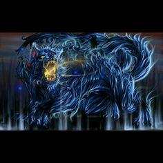 (伝説のレアエックス: 二尾の巨獣 • 又旅,) Legendary rare X: Two-tailed Beast, Matatabi - Finishing move: Tailed-Beast Ball & Cat Flame Roaring Fire - Artwork by NakedMazaFaker