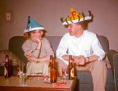 "New Year's Eve-1954. ""So Charlie, what does the ""f"" stand for?"""