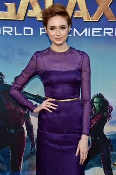 "Karen Gillan (Nebula) at the World Premiere of Marvel's ""Guardians of the Galaxy"""