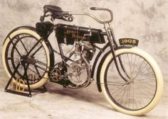 Harley Davidson, circa 1905, hmm, looks like a moped to me...  Google Image Result for http://static.ddmcdn.com/gif/1905-harley-davidson-3.jpg