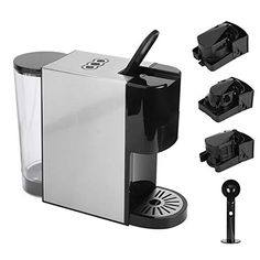 Portable 3 in 1 Capsule Coffee Machine, Electric Coffee Maker Espresso Coffee Maker Espresso Coffee Machine for Home… 【Intuitive and user‑friendly】Intuitive ... Electric Coffee Maker, Home Coffee Machines, Espresso Coffee Machine, Health Recipes, No Cook Meals, Coffee Shop, Kitchen Appliances, Diet, Cooking
