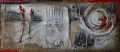 Milano astratto 180x80 tecnica mista