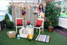DIY :: Thrift Store Show Down {The Marilyn Denis Show} Outdoor Garden Oasis