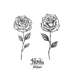 Some rose tattoo ideas :)