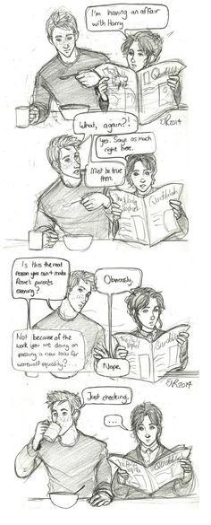 JKR, please believe us when we say that Ron and Hermione are MEANT for each other!