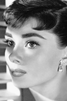 Makeup (specifically eyes/brows) Example: Audrey Hepburn for Sabrina, 1954. Photo by Richard Avedon