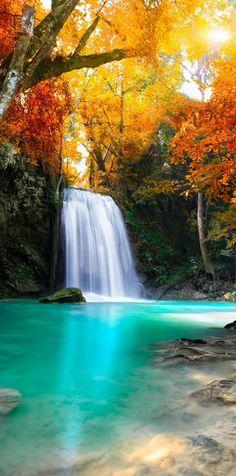 Deep forest Waterfall, Thailand