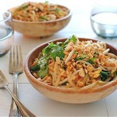 Super Easy Pad Thai... We added chicken, doubled the sauce recipe. Also, added about 2 tsp. rice vinegar, 1 tsp. Worcestershire sauce and 1 tsp. chili garlic sauce. Definitely the best homemade pad Thai we've tried!