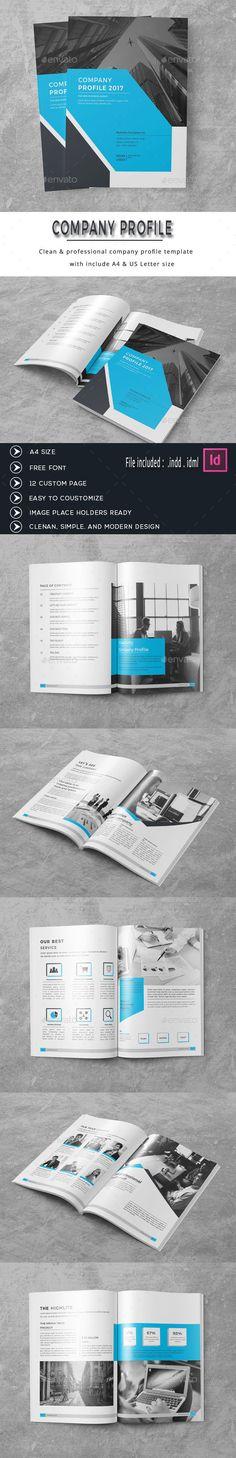 Modern Company Profile Profilo aziendale, Brochure e Moderno - it company profile template