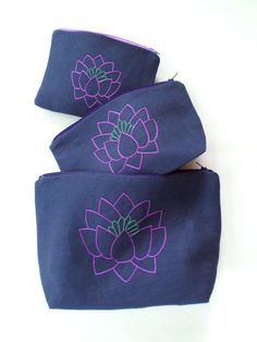 Flower hand embroidery hand bags,bunch of pocket,tulip,lotus