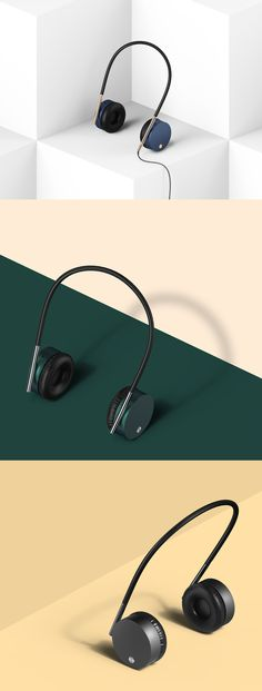 Compact design of the headset . Compared to that worn away to avoid burdensome headset Audio Design, Sound Design, Set Design, Bose, Presentation Layout, Best Headphones, Bicycle Design, Commercial Photography, Design Reference