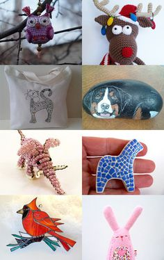 Sweet animals by AneleArt on Etsy--Pinned with TreasuryPin.com