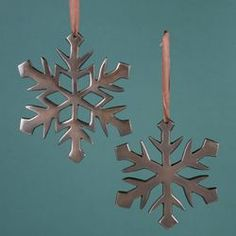 ANTIQUE COPPER SNOWFLAKE ORNAMENT (bought 2 of these from Selfridges in London last year and need more!)