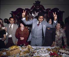 Eusebio in 1972, about to tuck into a massive, 30th birthday spread.