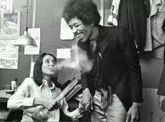 Josn Beaz & Jimmy Hendrix...classic photo