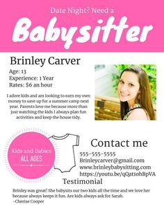 babysitting flyer babysitting flyer example babysitting flyer template babysitting flyers flyer template