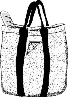Classic Open Tote Bag Pattern- FREE